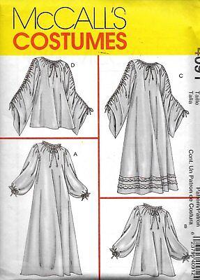 Renaissance Blouse Pattern (McCall's 4091 Renaissance Misses Chemise Blouse Sewing Pattern Miss & Plus)