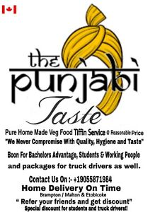 The Punjabi Taste Tiffin service $150 6 days a week