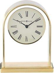 (2) Howard Miller Reminisce Table Clock 613-118 – Brass Finish - Quartz Movement