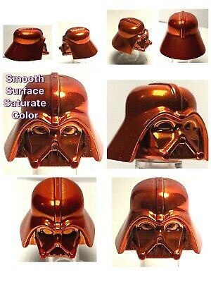 LEGO DARTH VADER HELMET CHROME ORANGE GENUINE CUSTOM BEST QUALITY