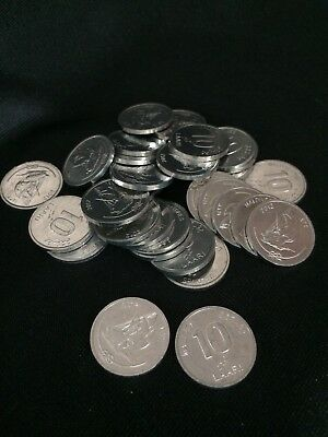 MALDIVES 10 LAARI 2012 BOAT SHIP COIN UNC LOT 100 PCS