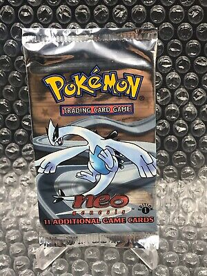 1st Edition Neo Genesis Pokemon Booster Pack Factory Sealed Lugia artwork