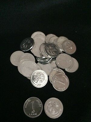 MALDIVES 10 LAARI 2012 BOAT SHIP COIN UNC LOT 10 PCS