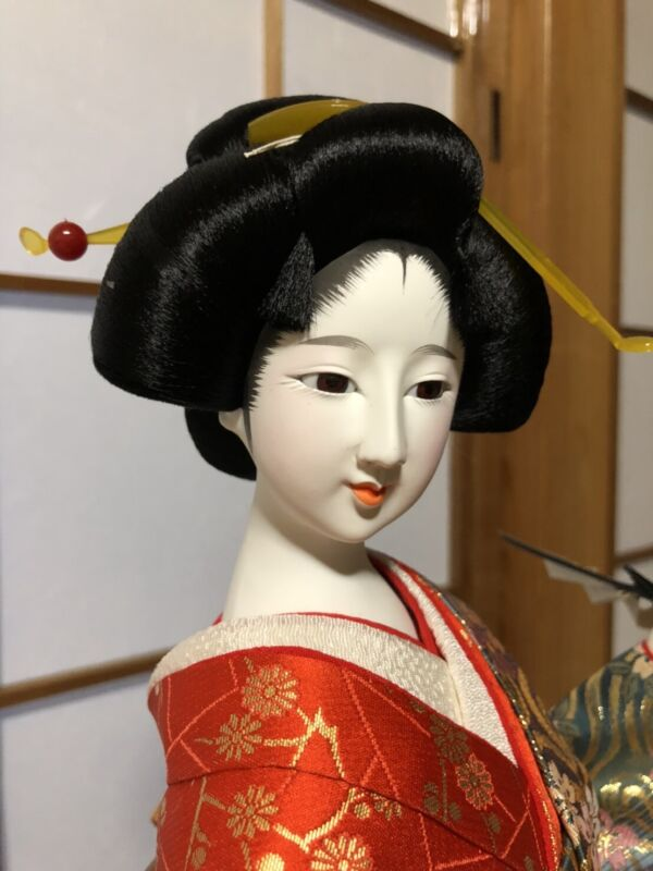 Japanese antique Oyama doll kimono Geisha Girl  beautiful Near Mint Kyoto
