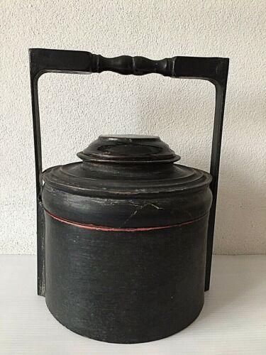 Antique Burmese lacquer lunch box storage