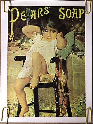 Original Vintage Poster Pears Soap vintage Headshop advertisement print 1970s
