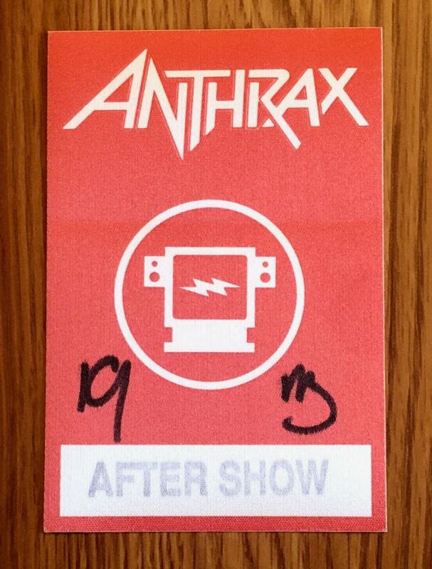 Anthrax Original Band Backstage Access Pass Sticker