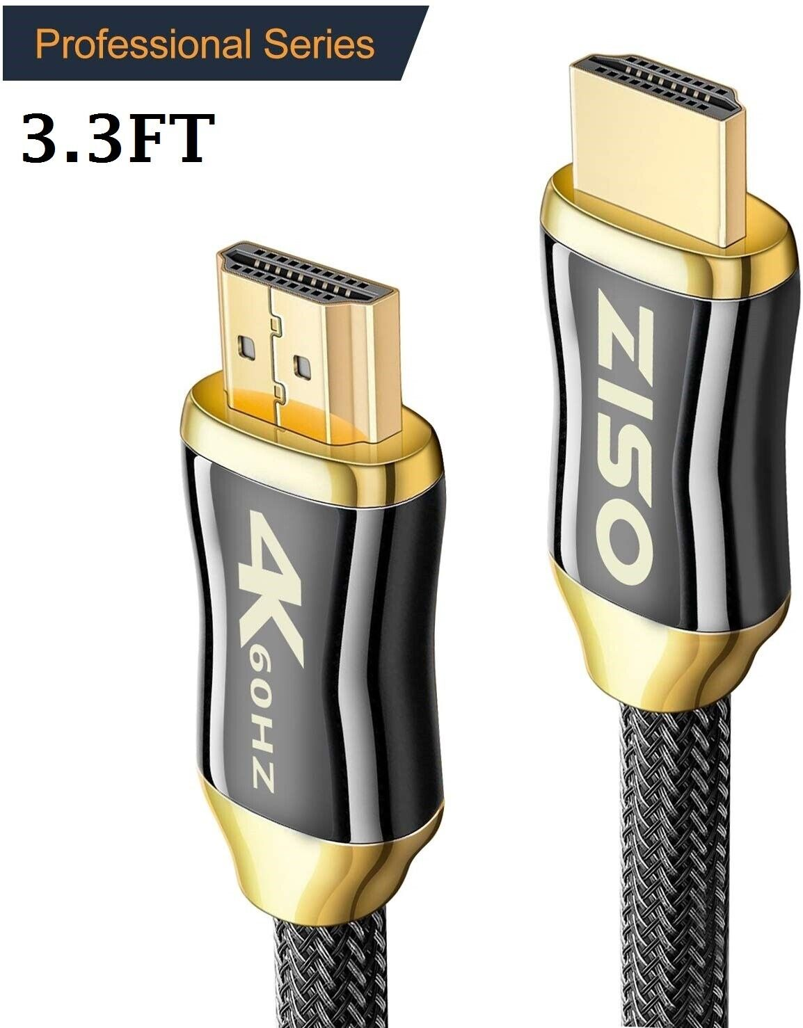 4K High Speed HDMI 2.0 Cable 2160P FullHD UHD/Ultra HD HDR HDCP 2.2 (3.3 FT) Consumer Electronics