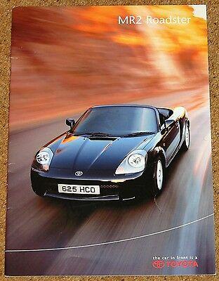 2000 TOYOTA MR2 ROADSTER UK Sales Brochure inc Accessories, Colours