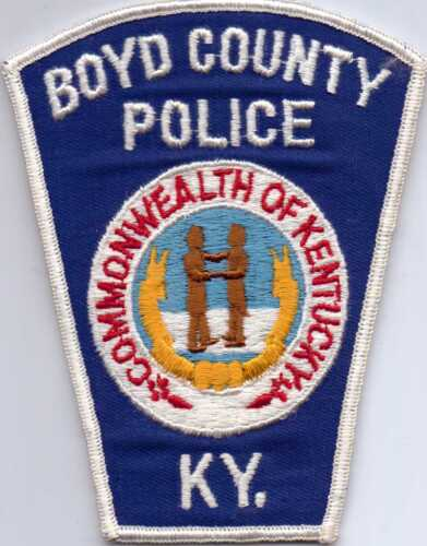 BOYD COUNTY KENTUCKY POLICE PATCH-UNUSED-OBSOLETE