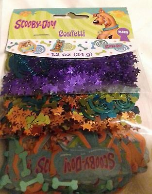 SCOOBY-DOO WHERE ARE YOU? DECORATIONS CONFETTI 3 BAGS ~ Birthday Party - Scooby Doo Birthday Supplies
