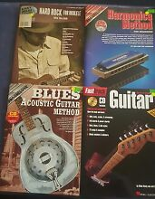 MUSIC Instruction BOOKS x (4) all with Instructional CD's Bargara Bundaberg City Preview