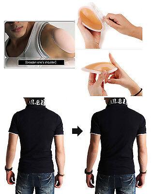 Wide Shoulder Pads Shoulder Enhancer Push-up Pads Self Silicone Adhesive