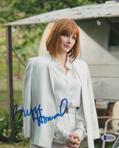 BRYCE DALLAS HOWARD SIGNED 8X10 PHOTO JURASSIC WORLD BECKETT BAS AUTOGRAPH AUTO