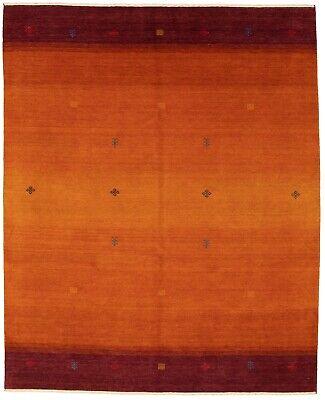 Orange Chevron Rug (Hand-knotted  8'0