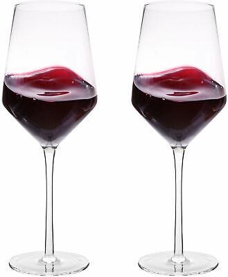 Hand Blown Crystal Wine Glasses Bella Vino Classy Red White Wine Glass