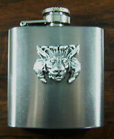 Lions Head 3oz Stainless Steel Hip Flask Free Uk Post Nature Wild Life Big Cat -  - ebay.co.uk