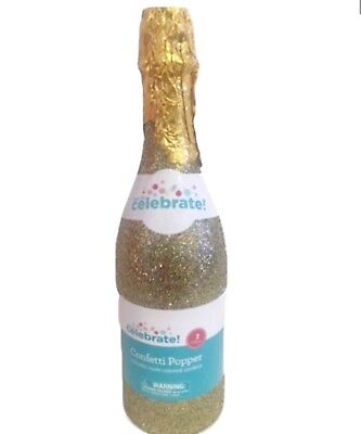 WEDDING ANNIVERSARY BIRTHDAY CELEBRATION! CHAMPAGNE BOTTLE CONFETTI POPPER - Confetti Champagne Bottle