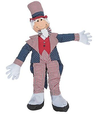 Cute Patriotic Stuffable Uncle Sam Porch Greeter 4th of July Decoration (Greeter Decoration)