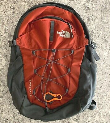 The North Face Borealis Maroon Black Backpack Laptop Sleeve