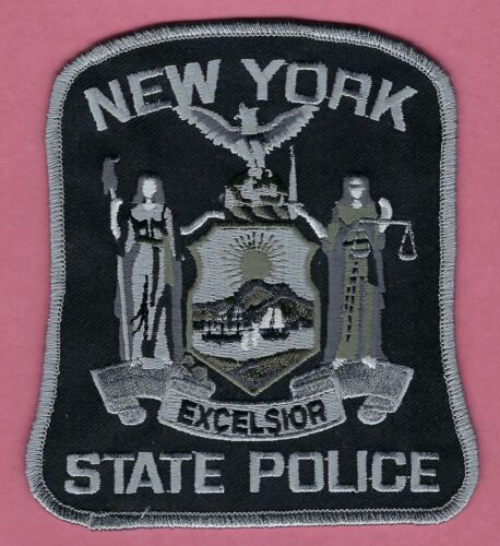 NEW YORK STATE POLICE SHOULDER PATCH TACTICAL GRAY