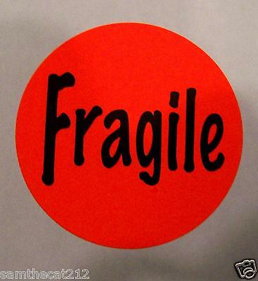 250 Fragile Label Sticker Big 1.5 Round Best Price