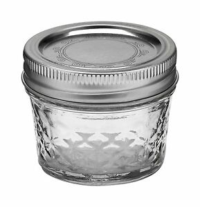 12 Pack 4 Oz 4oz Ball Crystal Quilted Jelly Jar Mason