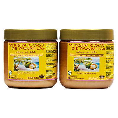 Organic 100% pure Virgin Coconut Oil ManilaCoco NON-COMEDOGE
