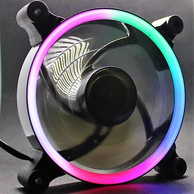 Led Case Fan (LED 120mm PC case fan. Multi coloured LED fan. LED computer fan. 12cm fan.)