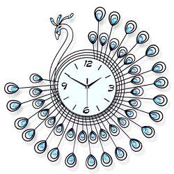3D Large Wall Clock Home Fashion Decorative Peacock Creative Mute Clock Kit