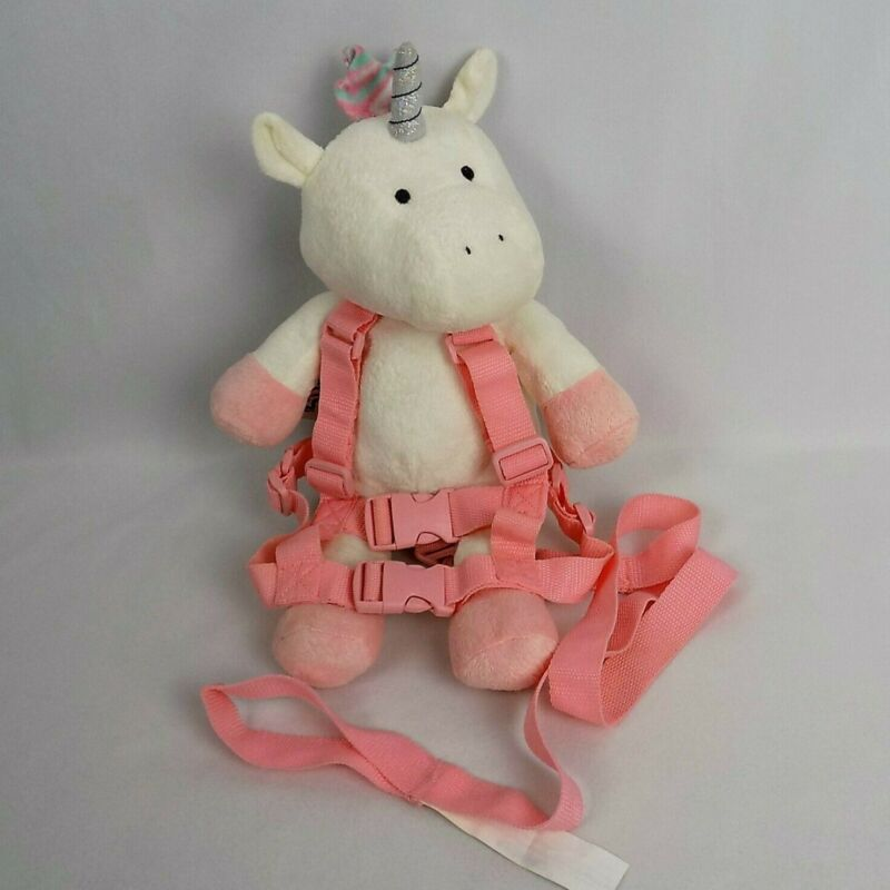 Safety Harness 2 in 1 Toddler TRAVEL BUG Unicorn Plush Character White Pink