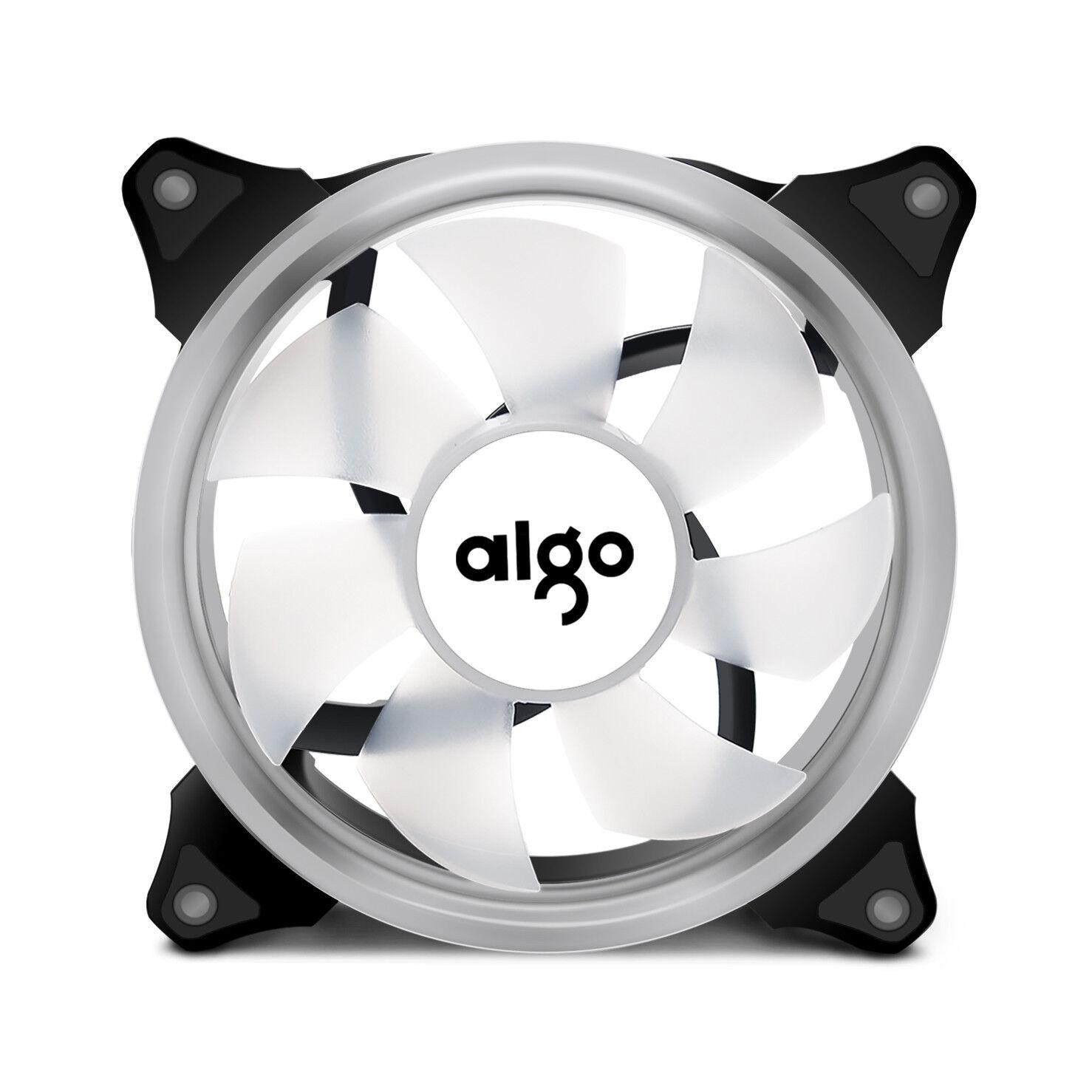 1pcs Aigo  Blue Halo LED 140mm PC CPU Computer Case Cooling Neon Clear Fan Mod