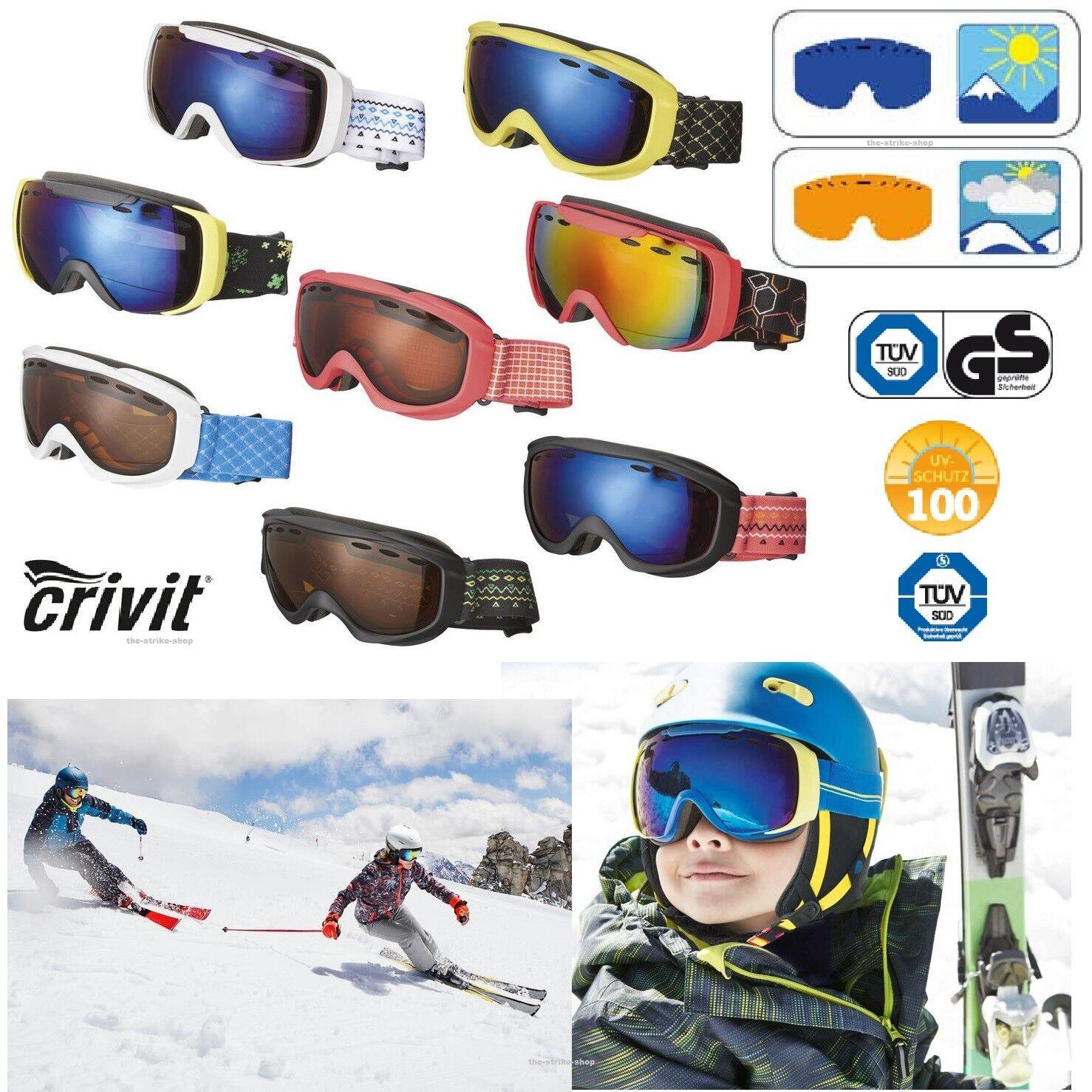 Crivit Kinder Ski und Snowboardbrillen Sport Snowboard Brille Alpen S2 S3 NEU