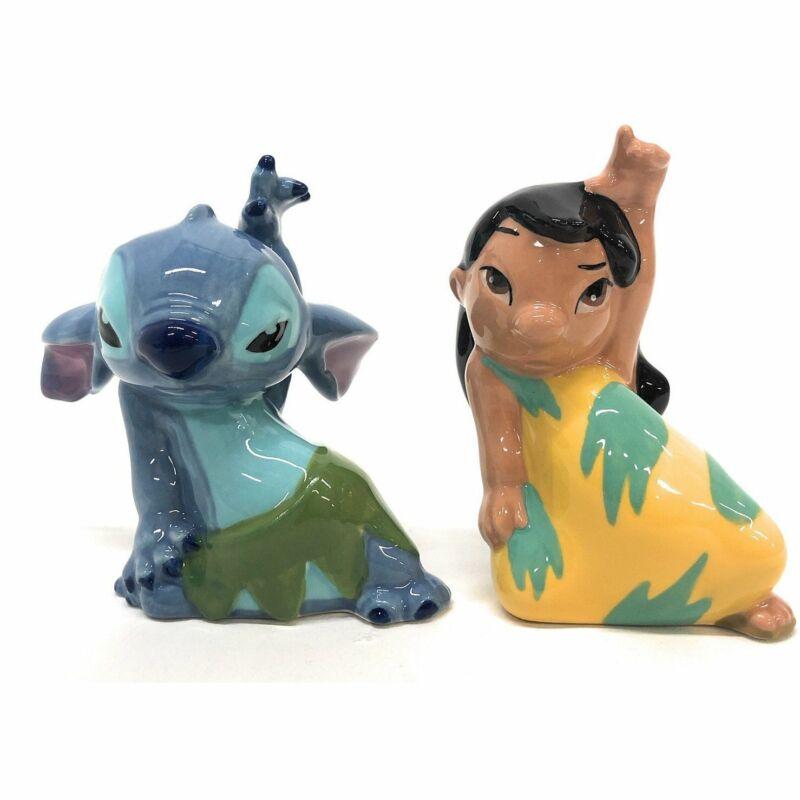 Enesco 6002267 Disney Lilo & Stitch Salt And Pepper Shakers  multi-colored