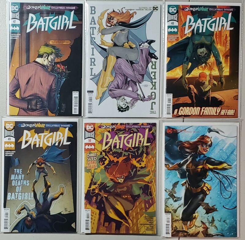Batgirl 47 A & B - 48 A & B - 49 A - Batgirl 50 2nd Print - Joker War Set Lot