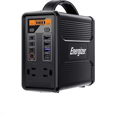 12500MAh Energizer Portable Solar Generator Power Station  Emergency Power US