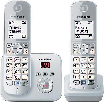 Panasonic Kx-tg 6822 GS Duo sin Cable Teléfono con Contestador Automático Plata