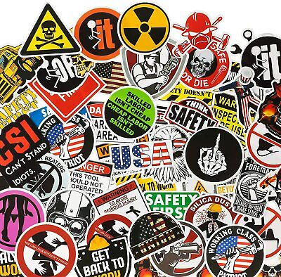 200 Pack Funny Hard Hat Stickers Construction Electrician Helmet Tool Box Decals
