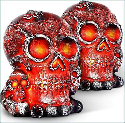 TomCare Halloween Lights LED Flame Solar Lights Outdoor Halloween Decorations
