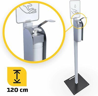 Desinfektionsmittelspender 1000ml stehend 120cm Alu Ständer mobiler