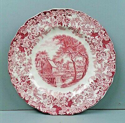 "Johnson Brothers ENGLAND Mill Stream Pink 8"" Salad Dinner Plate"