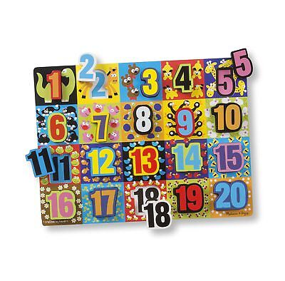 Jumbo Numbers Wooden Chunky Puzzle (Melissa & Doug - Wooden Jumbo Numbers Chunky Puzzle)