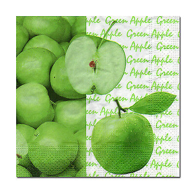 4 Servietten Motivservietten Napkins Tovaglioli Grüner Apfel Green Apple (613) Apple Serviette