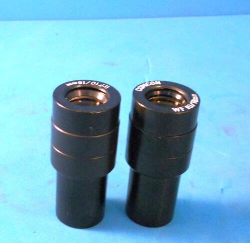 COMCON WIDE FIELD 10X 18mm MICROSCOPE OCULARS (EYEPIECE) PAIR