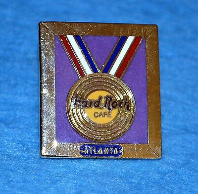 HARD ROCK CAFE 1996 Atlanta Pin with Gold Medal, HRC 2 Line Pin # 50673 - Medallion 2 Line