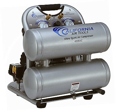 California Air Tools 4620ac Ultra Quiet Oil-free Powerful Air Compressor-used