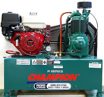 Champion Hgr7-lph 4 Gal Twin Tanks 13hp Honda Gas Compressor Gx390 Elec. Start