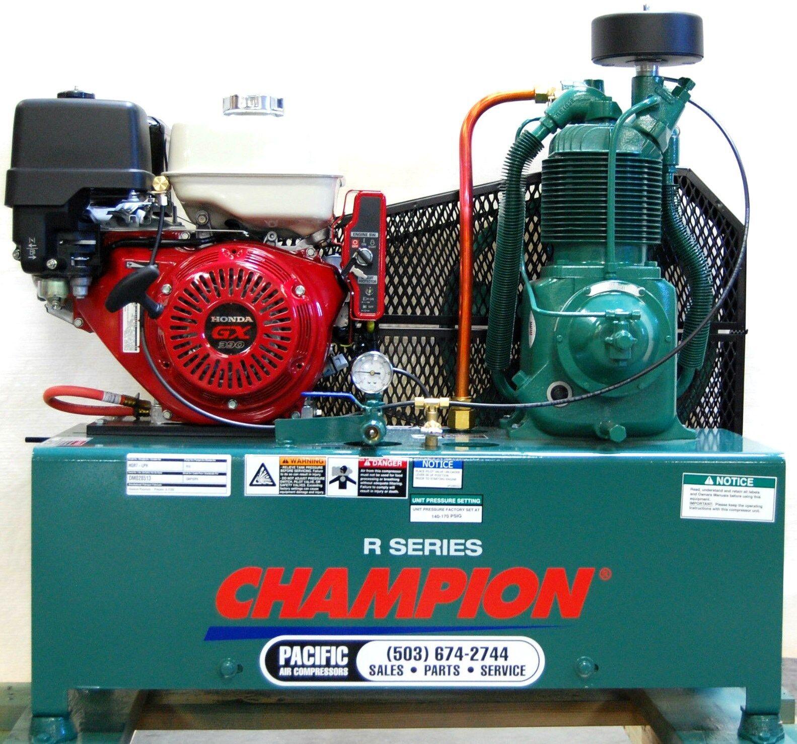 Champion Hgr7 Lph 4 Gal Twin Tanks 13hp Honda Gas Compressor Gx390 Sidecar Wiring Diagram Elec Start