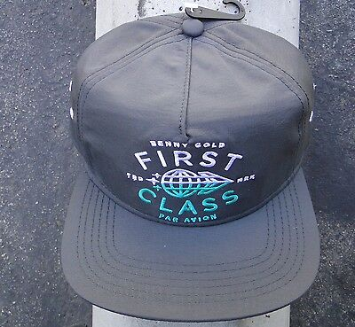 Benny Gold Skate Co  First Class Gray Mens Snapback Hat Htben 26