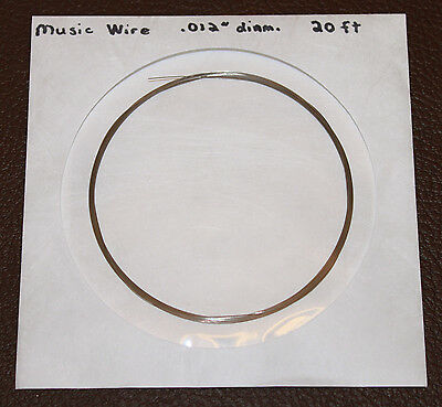 Piano Wire Music Wire - 20 Ft Coil 0.010 0.012 0.014 Or 0.016 Diameter